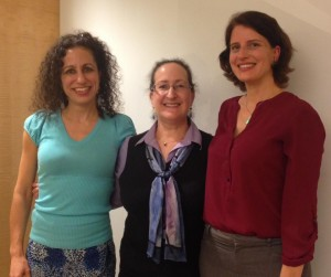 (from left) Lisa Block, Program Officer for Sub-Saharan Africa with the Global Fund for Women, Nancy Newman, IANGEL Founder and President, and Rebecca Hooley, a director with IANGEL
